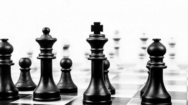 fekete, fehér, sakk, matt