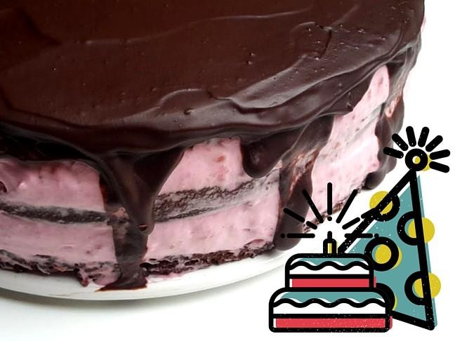 málna és csoki születésnapra