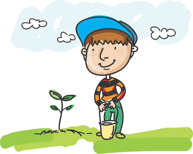 kertészkedés gyerekkel