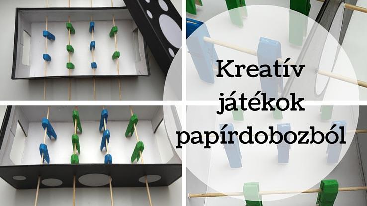 papírdobozból játék