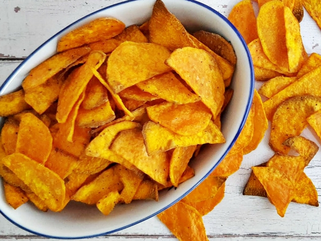 édesburgonya chips