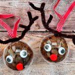 Rudolf nyomában: rénszarvasos karácsonyi gömbdísz