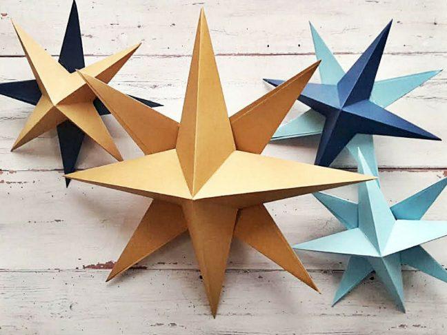 papírból csillag
