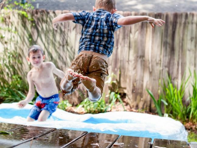 kid-friendly backyard