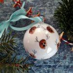 Rénszarvasos karácsonyi gömbdísz