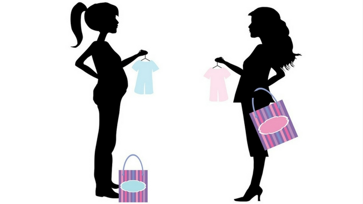 pregnan woman shopping