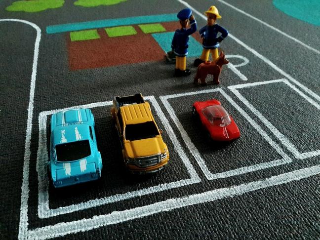 autópályás játszószőnyeg