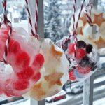 Hull a hó és hózik: jégkoszorú házilag