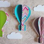 Szállj fel magasra: színes, vidám hőlégballonok papírból