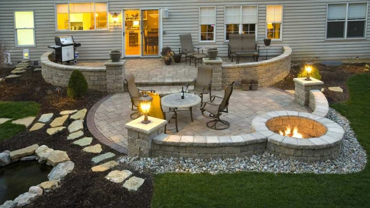 kid-friendly paver patio