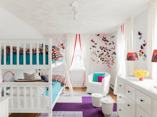 decorate shared kids room