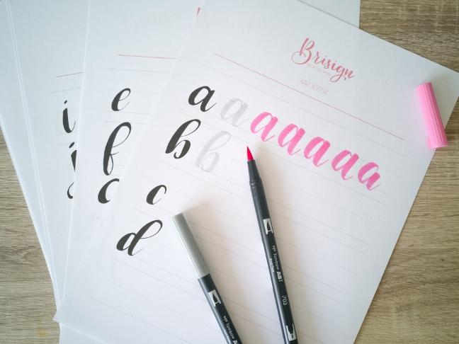 kalligráfia írj kézzel