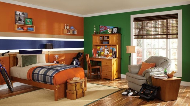 ideal colours for kids' room