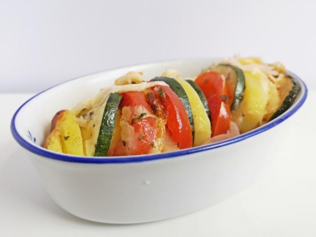 zöldfűszeres sült zöldségek