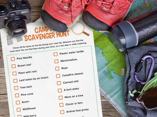printable camping games