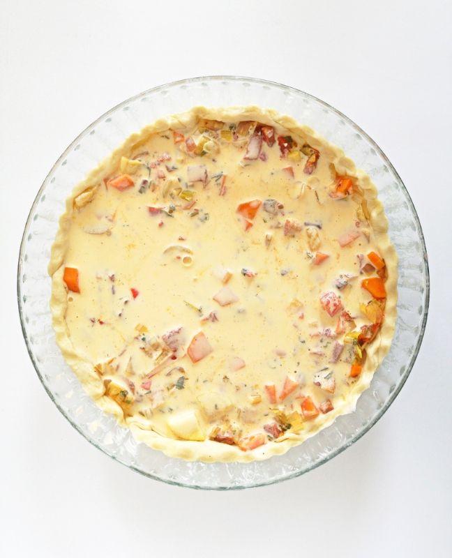 sós pite zöldségekkel
