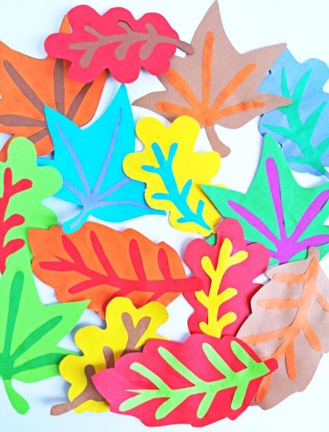 diy őszi fali falevélszőnyeg