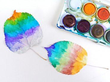 fess színes faleveleket