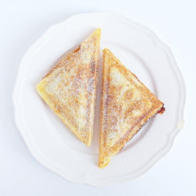 körtés édesség recept szendvicssütő