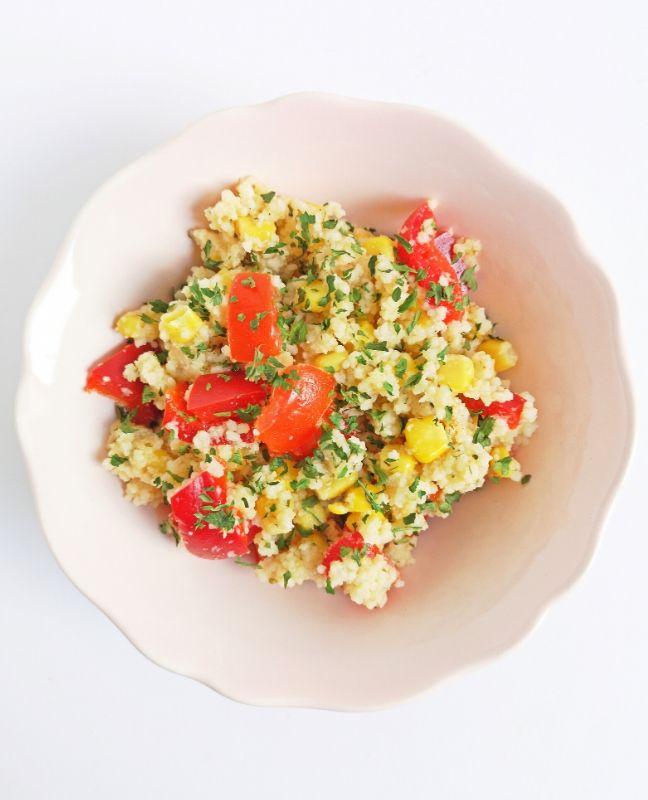 színes kuszkuszsaláta recept