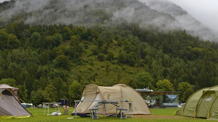 family camping in Austria