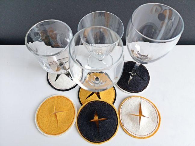 szilveszteri házibuli diy pohárjelölő