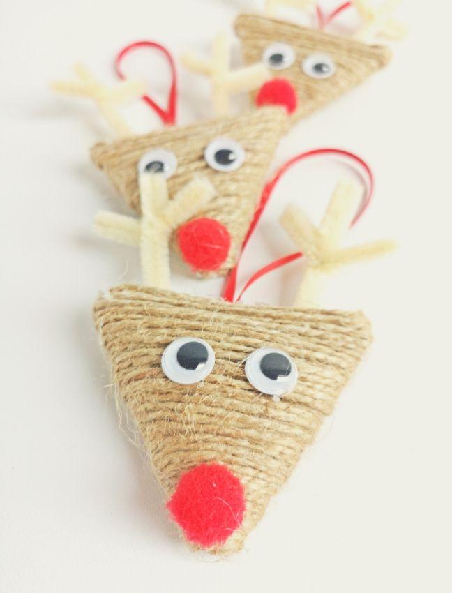 diy rénszarvas karácsonyi dísz spárgából