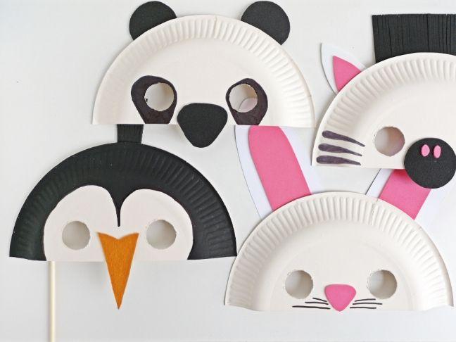 DIY farsangi álarcok papírtányérból