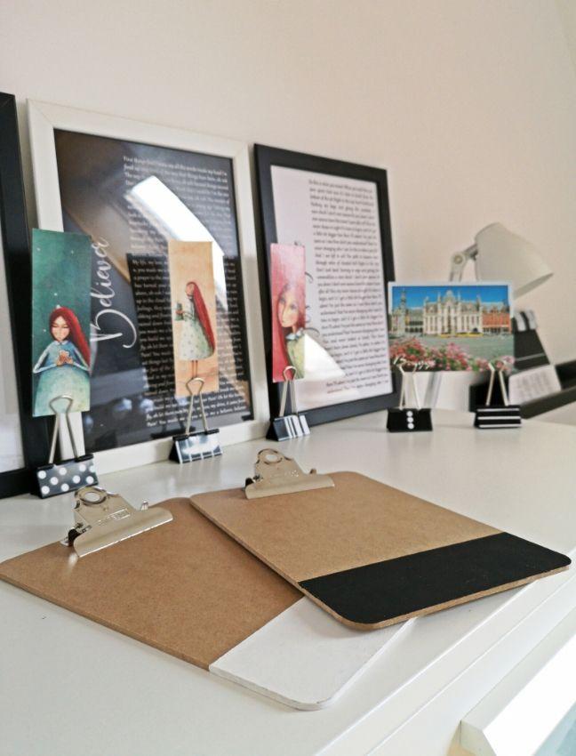 DIY képtartó felírótáblából