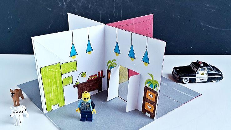 diy 3D papírépület