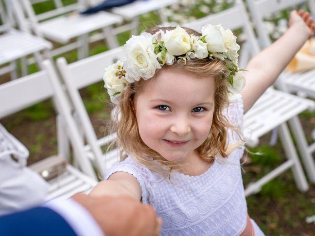 children in wedding experience
