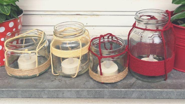 DIY mécsestartó befőttesüvegből