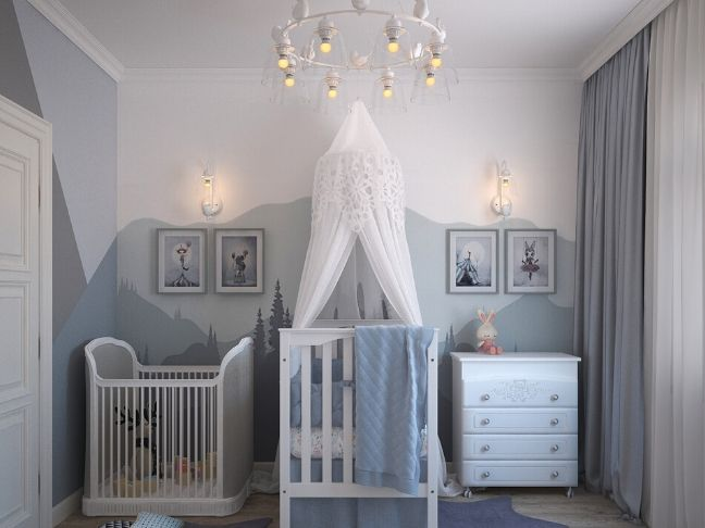 beautiful baby nursery for newborn