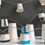 Hangulatfény – fényfüzér papírpohárból