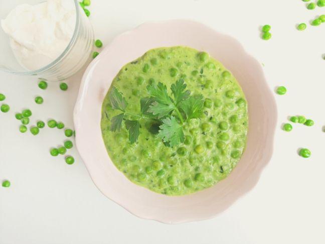 krémes zöldborsófőzelék recept