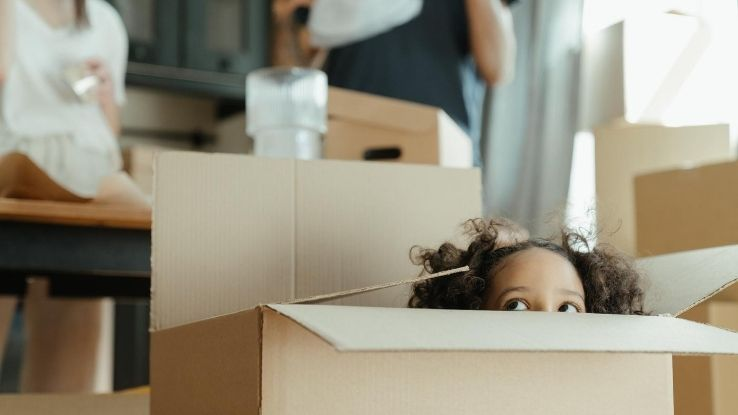 children excited about moving