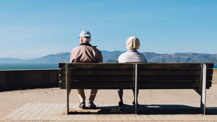 elderly parents in home for seniors