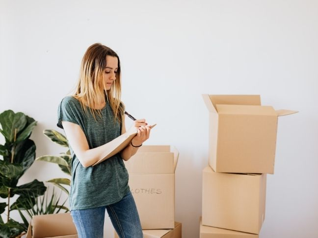 declutter while moving your family