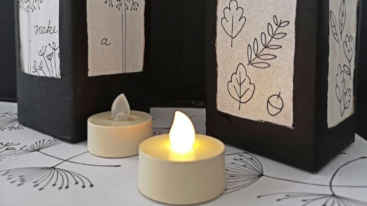 DIY lámpások tejesdobozból