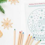Holiday Stress Relief Coloring Page