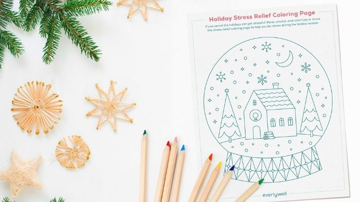 stress relief coloring page