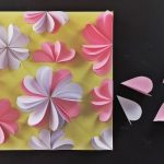 Színpompás tavasz – 3D-s virágos papírkép