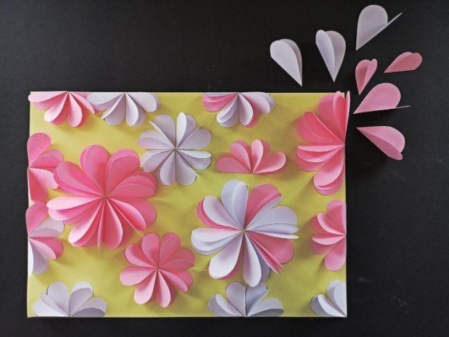 DIY 3D-s virágos papírkép
