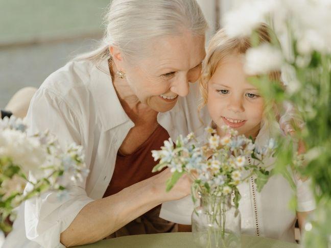 grandparents providing childcare