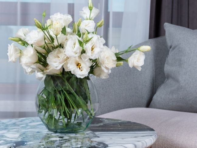 having flowers in your home