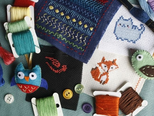 stitchery kits and crafting
