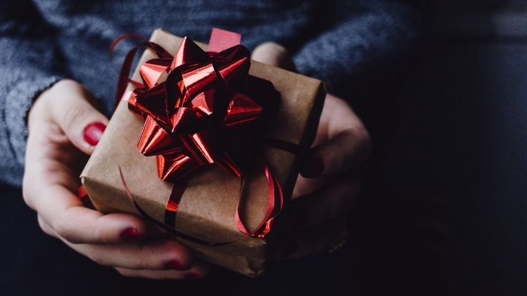 giving holiday gifts