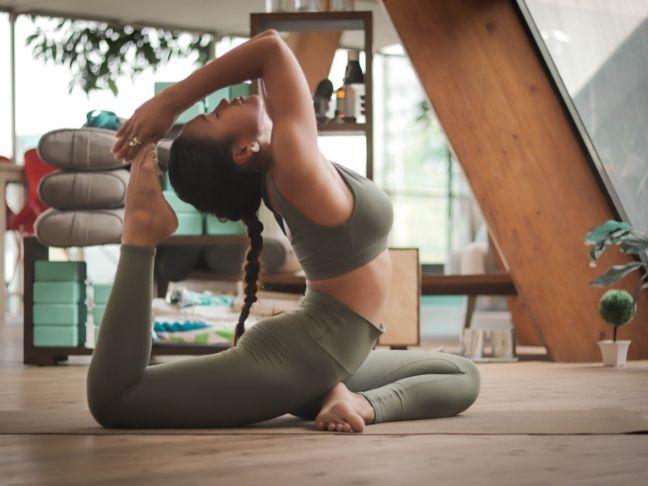 inspirational yoga room